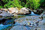 The lovely Brewster River follows Route 108 down from the pass called Smugglers Notch. Each pool held a Rainbow or Brown in a staircase climbing the mountain that could be fished from eye level.