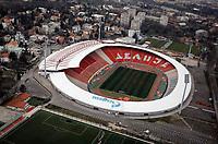 Fudbal Season 2019-2020-General overview of FK Crvena Zvezda football stadium Rajko Mitic-An aerial view-Ilustracija Illustration<br /> Beograd, 23.03.2020.<br /> foto: Marko Djokovic/Starsportphoto©