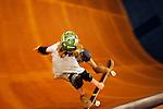 Skateboarder Brett Pogoda, 11, of Gilford, New Hampshire, skates the vert ramp in Cloud-9 at Camp Woodward in Woodward, Pennsylvania.  August 15, 2005.