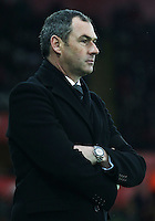 Swansea Citys head coach Paul Clement  prior to kick off of the second half of  the Premier League match between Swansea City and Arsenal at The Liberty Stadium, Swansea, Wales, UK. Saturday 14 January 2017