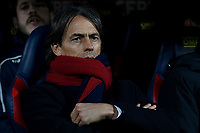 Filippo Inzaghi coach of Bologna looks on before the Italy Cup 2018/2019 football match between Bologna and Juventus at stadio Renato Dall'Ara, Bologna, January 12, 2019 <br />  Foto Andrea Staccioli / Insidefoto
