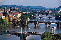Moldaubruecken, Prag, Tschechien, Unesco-Weltkulturerbe