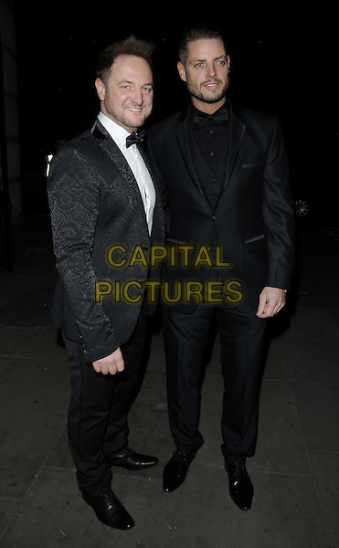 LONDON, ENGLAND - NOVEMBER 30: Mikey Graham & Keith Duffy at the Emeralds & Ivy Ball, Old Billingsgate, Old Billingsgate Walk, on Saturday November 30,  2013 in London, England, UK.<br /> CAP/CAN<br /> ©Can Nguyen/Capital Pictures