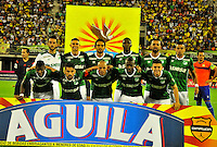 BARRANCABERMEJA -COLOMBIA, 16-10-2016:  Alianza Petrolera y Deportivo Cali en partido válido por la fecha 16 de la Liga Aguila II 2016 disputado en el estadio Daniel Villa Zapata de la ciudad de Barrancabermeja. / Alianza Petrolera and Deportivo Cali n match valid for the date 16 of the Aguila League II 2016 played at Daniel Villa Zapata stadium in Barrancebermeja city. Photo: VizzorImage / Jose Martinez / Cont