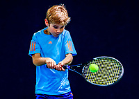 Hilversum, Netherlands, December 3, 2017, Winter Youth Circuit Masters, 12,14,and 16 years, Teun Mantel (NED)<br /> Photo: Tennisimages/Henk Koster