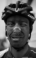 Paris-Roubaix 2012 ..Kenny Dehaes with a 'dust-eye' post-race