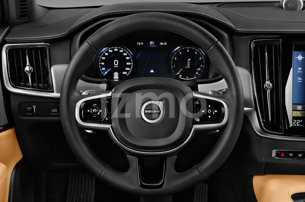 Car pictures of steering wheel view of a 2018 Volvo V90 Corss Country Pro 5 Door Wagon