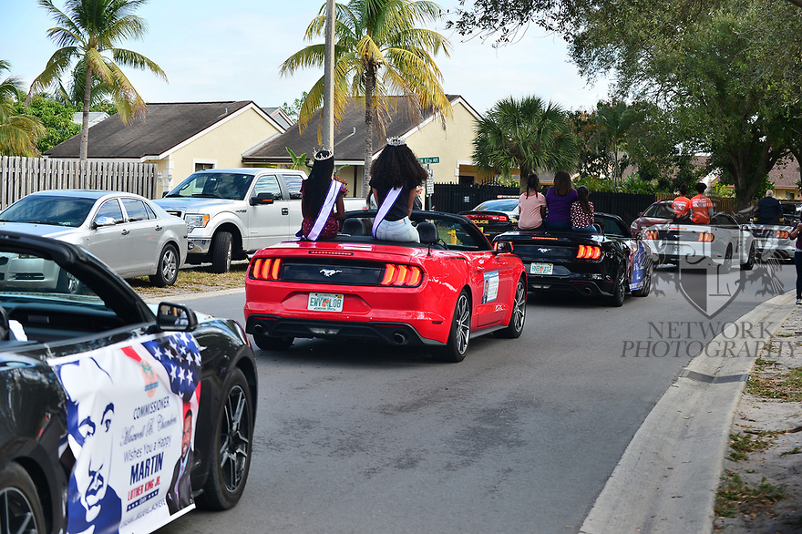 MIRAMAR,  FLORIDA - JANUARY 20: Atmosphere during the annual Reverend Dr. Martin Luther King, Jr. Day celebration City Miramar MLK Parades between Sherman Cirrcle and Lakeshore Park on January 20, 2020 in Miramar, Florida.  ( Photo by Johnny Louis / jlnphotography.com )