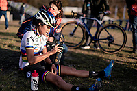 cx world champion Ceylin del Carmen Alvarado (NED/Alpecin-Fenix) after finishing<br /> <br /> UEC Cyclocross European Championships 2020 - 's-Hertogenbosch (NED)<br /> <br /> Elite Women's Race<br /> <br /> ©kramon