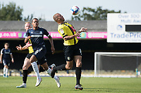 Aaron Martin, Harrogate Town,  controls a long ball over his shoulder during Southend United vs Harrogate Town, Sky Bet EFL League 2 Football at Roots Hall on 12th September 2020