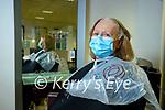Marlyn Kelly Listowel having her hair done in Sean Taaffe hairdressers, Tralee