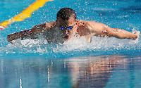 Trofeo Settecolli di nuoto al Foro Italico, Roma, 13 giugno 2013.<br /> Laszlo Cseh, of Hungaria, competes in the men's 100 meters butterfly at the Sevenhills swimming trophy in Rome, 13 June 2013.<br /> UPDATE IMAGES PRESS/Isabella Bonotto