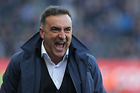 Swansea manager Carlos Carvalhal reacts on the touch line during the Premier League match between Swansea City and Everton at The Liberty Stadium, Swansea, Wales, UK. Saturday 14 April 2018