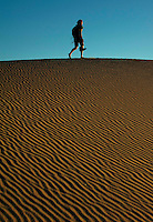 Walking the dunes in Death Valley.