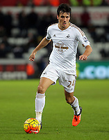 Jack Cork of Swansea during the Barclays Premier League match between Swansea City and Watford at the Liberty Stadium, Swansea on January 18 2016