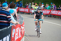 Geraint Thomas (GBR/SKY) dropped from the peloton  after the 2nd ascent of the Cauberg <br /> <br /> Amstel Gold Race 2014