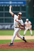 Sam Houston State Bearkats relief pitcher Landon Ausley (33) delivers a pitch to the plate against the Vanderbilt Commodores in game one of the 2018 Shriners Hospitals for Children College Classic at Minute Maid Park on March 2, 2018 in Houston, Texas. The Bearkats walked-off the Commodores 7-6 in 10 innings.   (Brian Westerholt/Four Seam Images)