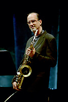 Montreal (Qc) CANADA, June 27 1997-<br /> Michael Brecker play with Herbie Hancock at<br /> Montreal Jazz Festival<br /> <br /> -Photo : Agence Quebec Presse