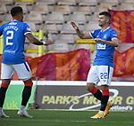 27.09.2020 Motherwell v Rangers:  Jordan Jones celebrates his goal