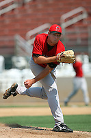 July 16 2008: Mike Wagner of the High Desert Mavericks during game against the Rancho Cucamonga Quakes at The Epicenter in Rancho Cucamonga,CA.  Photo by Larry Goren/Four Seam Images
