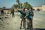 13/11/2015-- Iraq,Sinjar -- Peshmarga fighters taking selfie photos after Sinjar liberation, there were immediate transferring news from Sinjar into the social media networks.