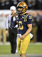 PHILADELPHIA, PA - DEC 14, 2019:  Navy Midshipmen quarterback Malcolm Perry (10) in action during game between Army and Navy at Lincoln Financial Field in Philadelphia, PA. The Midshipmen defeated Army 31-7. (Photo by Phil Peters/Media Images International)