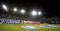 Calcio, Champions League: Napoli vs Benfica. Napoli, stadio San Paolo, 28 settembre 2016.<br /> Napoli and Benfica teams line up prior to the start of their Champions League Group B soccer match at Naple's San Paolo stadium, 28 September 2016. Napoli won 4-2.<br /> UPDATE IMAGES PRESS/Isabella Bonotto