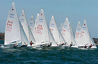 The start of a 470 sail race on the bay