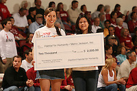 25 February 2006: The Katrina Assist program raised money as a fundraiser during Stanford's 78-47 win over the Washington State Cougars at Maples Pavilion in Stanford, CA.
