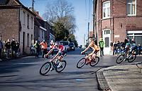 Mathieu Van der Poel (NED/Alpecin-Fenix) leading the breakaway group<br /> <br /> 73rd Kuurne - Brussels - Kuurne 2021<br /> ME (1.Pro)<br /> 1 day race from Kuurne to Kuurne (BEL/197km)<br /> <br /> ©kramon