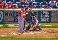 26 July 2013: Washington Nationals outfielder Bryce Harper at bat against the New York Mets at Nationals Park in Washington, DC. The Mets shut out the Nationals 11-0 in the first game of their day/night doubleheader. Mandatory Credit: Ed Wolfstein Photo *** RAW (NEF) Image File Available ***