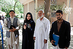 16 June 2013, Qala Wazir, Khoshal Khan, Kabul Province,  Afghanistan.  Program organisers (from left)<br /> Mohammad Neem (Country level), Leeena Faiz (Province level), Noor Zia (District level) and<br /> Mohammad Anwar (School level) at Shahid Nahid High School in Kabul.   Much of the funding for the school including construction was provided by  the Education Quality Improvement Program (EQUIP). The school is benefitting from EQUIP whose objective is to increase access to quality basic education, especially for girls. School grants and teacher training programs are strengthened by support from communities and private providers.  Picture by Graham Crouch/World Bank