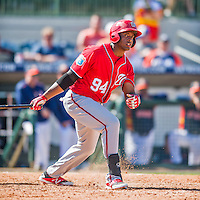 15 March 2016: Washington Nationals outfielder Isaac Ballou in action during a Spring Training pre-season game against the Houston Astros at Osceola County Stadium in Kissimmee, Florida. The Nationals defeated the Astros 6-4 in Grapefruit League play. Mandatory Credit: Ed Wolfstein Photo *** RAW (NEF) Image File Available ***