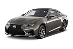 2018 Lexus RC F 3 Door Coupe angular front stock photos of front three quarter view