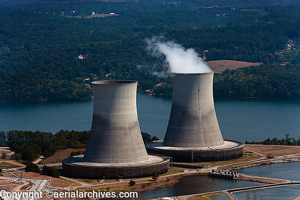 aerial photograph of Sequoyah Nuclear Power Plant Tenneessee Valley Authority