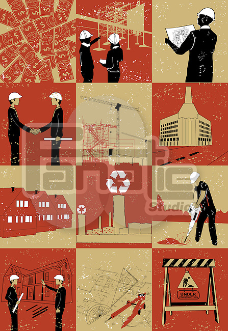 Illustrative representation showing construction