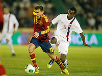 Spain's Ignacio Camacho (l) and Norway's Ibrahim during international sub21 match.March 21,2013. (ALTERPHOTOS/Acero) /NortePhoto