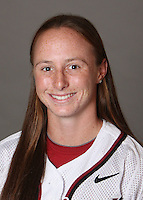 STANFORD, CA - OCTOBER 29:  Sarah Hassman of the Stanford Cardinal softball team poses for a headshot on October 29, 2009 in Stanford, California.