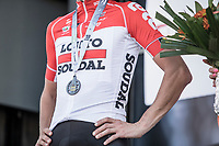 Jelle vanender (BEL/Lotto Soudal) with bronze medal after finishing 3th place. <br /> <br /> 82nd La Flèche Wallonne 2018<br /> 1 Day Race: Seraing - Huy (198,5km)