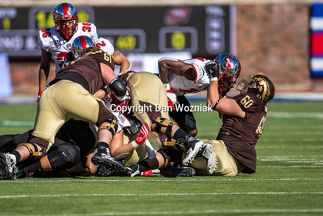Western Michigan Broncos offensive tackle Mark Brooks (60) in action during the Servpro First Responder Bowl game between Western Michigan Broncos and the Western Kentucky Hilltoppers at the gerald Ford Stadiuml Stadium in Dallas, Texas.