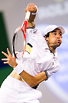 SHANGHAI, CHINA - OCTOBER 14:  Jeremy Chardy of France serves to Andy Murray of Great Britain during day four of the 2010 Shanghai Rolex Masters at the Shanghai Qi Zhong Tennis Center on October 14, 2010 in Shanghai, China.  (Photo by Victor Fraile/The Power of Sport Images) *** Local Caption *** Jeremy Chardy
