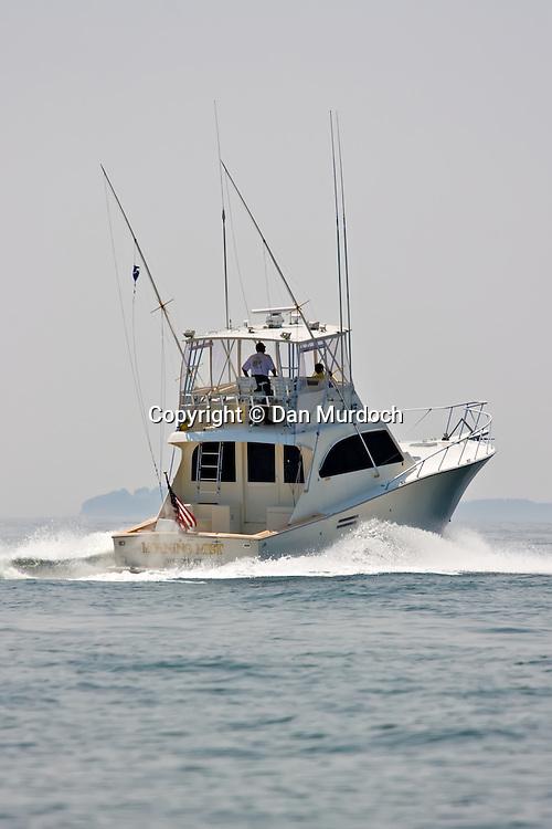 Sports fisherman making way