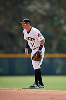 Pittsburgh Pirates second baseman Mitchell Tolman (31) during an Instructional League game against the New York Yankees on September 28, 2017 at Pirate City in Bradenton, Florida.  (Mike Janes/Four Seam Images)