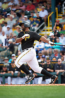 Pittsburgh Pirates third baseman Jason Rogers (15) at bat during a Spring Training game against the Toronto Blue Jays  on March 3, 2016 at McKechnie Field in Bradenton, Florida.  Toronto defeated Pittsburgh 10-8.  (Mike Janes/Four Seam Images)