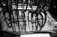 teamcar & cargo at the start of the last stage<br /> <br /> stage 21: Alcala de Henares - Madrid (98km)<br /> 2015 Vuelta à Espana