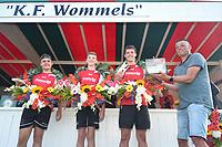 KAATSEN: : WOMMELS: 11-08-2021, Freulepartij, winnaars Steven Koster, Robin Benders en Jorrit Palma, ©foto Martin de Jong