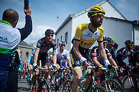 Laurens ten Dam (NLD/LottoNL-Jumbo) up the Côte de Saint-Roche (1850m/6.3%)<br /> <br /> 101th Liège-Bastogne-Liège 2015