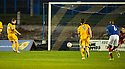 Dumbarton's Bryan Prunty misses from the spot  ...