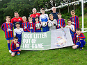 Litter Strategy Football Litter Awards 2014, the two winning football clubs, Central Rio and Steins Thistle Club, who participated in the pilot football litter campaign.
