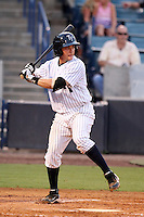 Tampa Yankees catcher Mitch Abeita #29 at bat during a game against the Clearwater Threshers at Steinbrenner Field on June 22, 2011 in Tampa, Florida.  The game was suspended due to rain in the 10th inning with a score of 2-2.  (Mike Janes/Four Seam Images)